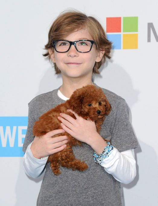 Jacob Tremblay with a Tiny Puppy