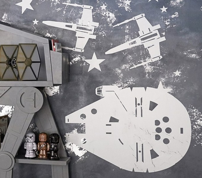 Nursery Artwork That's One-of-a-Kind — & Affordable: Star Wars™ Ship Wall Decals
