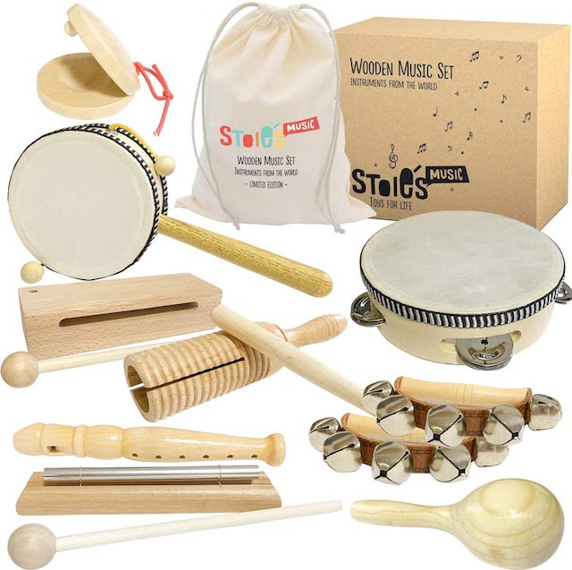 Stoie's Wooden Instruments best music set for kids on Amazon