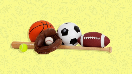 kids sports equipment and germs