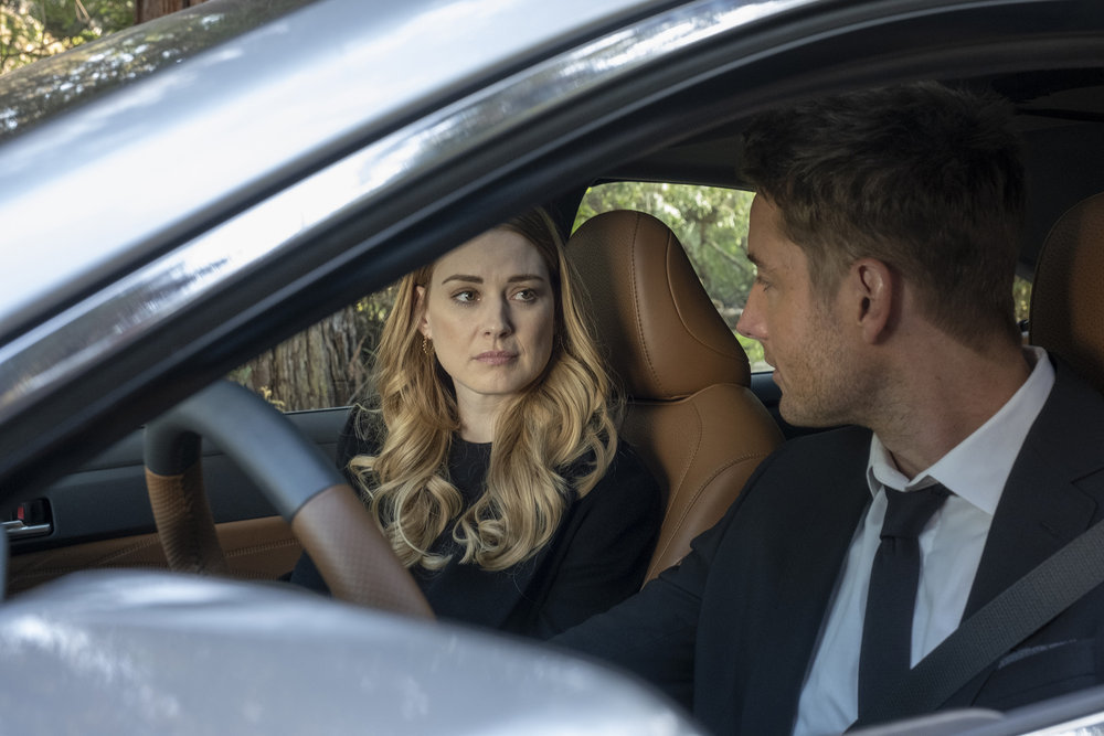 "THIS IS US -- ""A Hell of a Week: Part Two"" Episode 412 -- Pictured: (l-r) Alexandra Brekenridge as Sophie, Justin Hartley as Kevin -- (Photo by: Ron Batzdorff/NBC)"