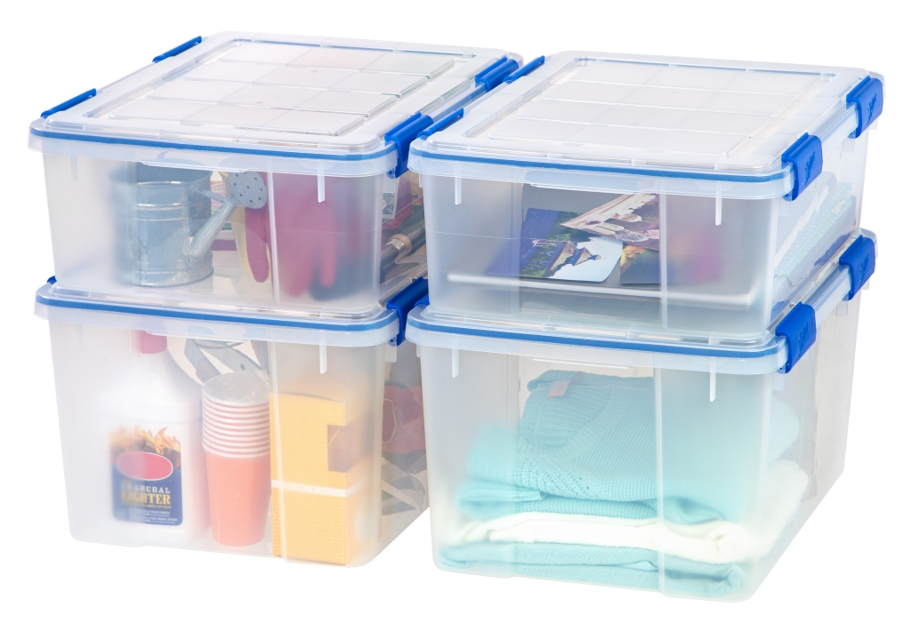 Ziploc 26.5 and 44 Quart WeatherShield Storage Box