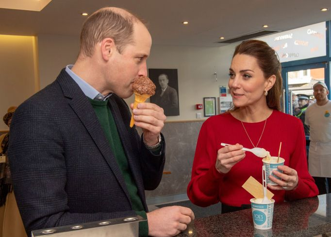 Prince William and Catherine Duchess of Cambridge visited Joe's Ice Cream Parlour in the Mumbles Swansea Prince William and Catherine Duchess of Cambridge visit to South Wales, UK - 04 Feb 2020