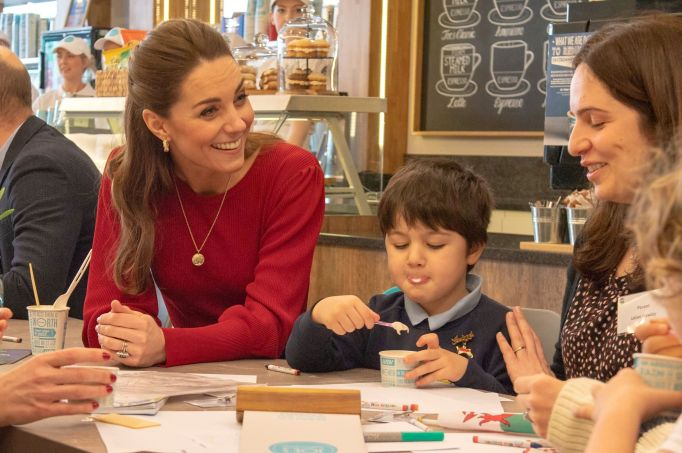 Prince William and Catherine Duchess of Cambridge visited Joe's Ice Cream Parlour in the Mumbles where they met a group of local parents and carers to hear about life in the Mumbles Prince William and Catherine Duchess of Cambridge visit to South Wales, UK - 04 Feb 2020