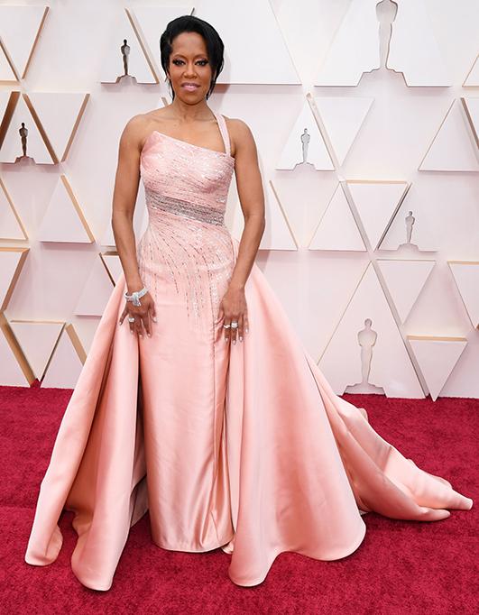 Regina King, 92nd Annual Academy Awards, Arrivals, Fashion Highlights, Los Angeles, USA - 09 Feb 2020Wearing Atelier Versace, Custom