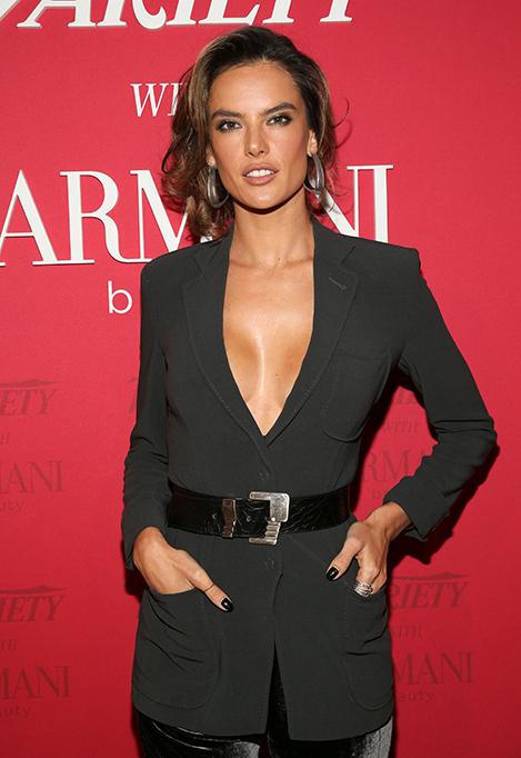 Alessandra Ambrosio at Variety x Armani Makeup Artistry Dinner, Sunset Tower, Los Angeles, USA - 04 Feb 2020