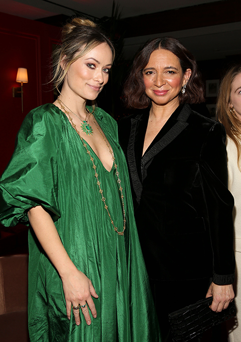 Olivia Wilde and Maya Rudolph at Variety x Armani Makeup Artistry Dinner, Sunset Tower, Los Angeles, USA - 04 Feb 2020