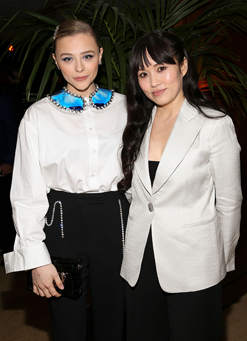 Chloe Grace Moretz and Mai Quynh at Variety x Armani Makeup Artistry Dinner, Sunset Tower, Los Angeles, USA - 04 Feb 2020