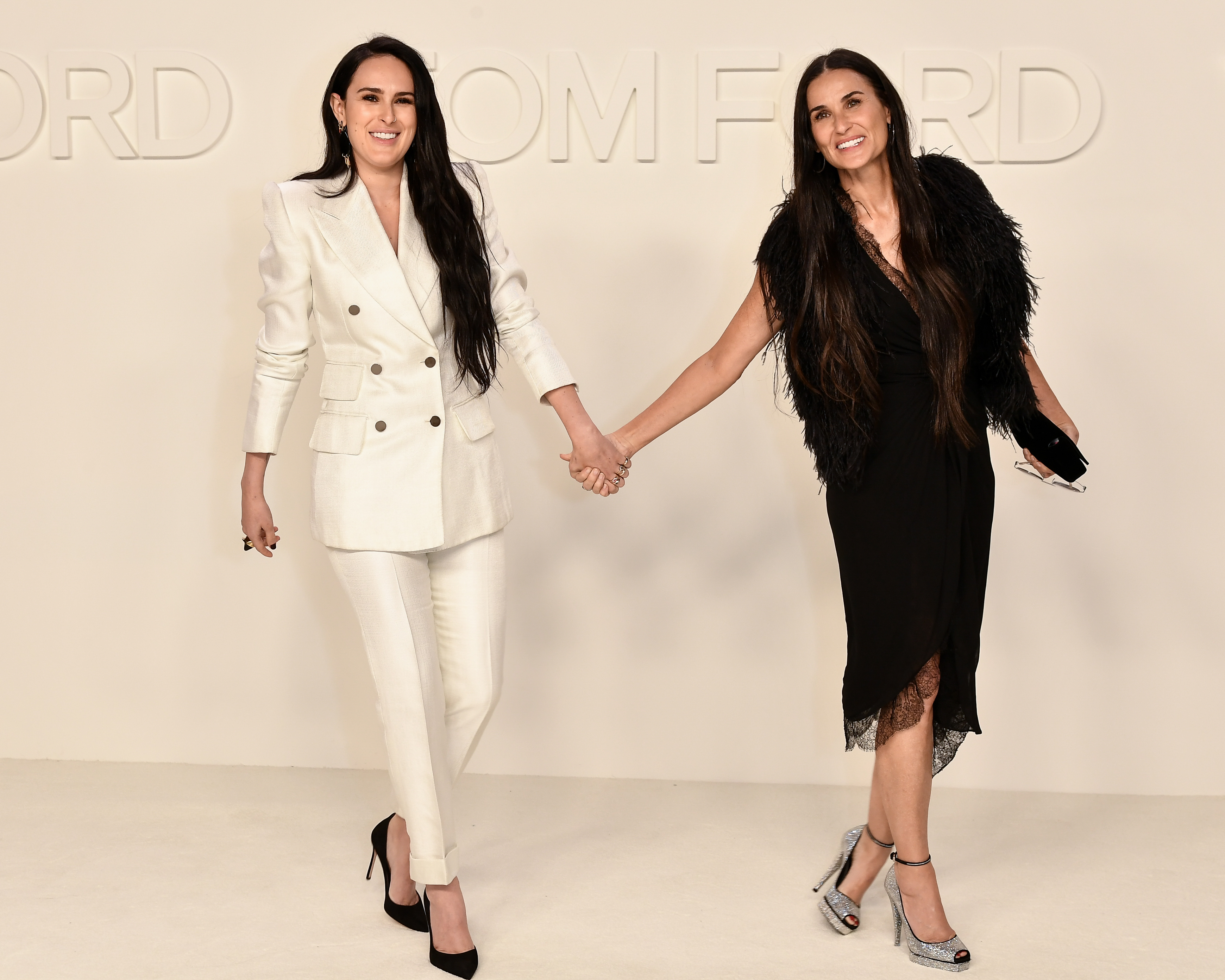 Rumer Willis and Demi Moore Tom Ford show February 2020