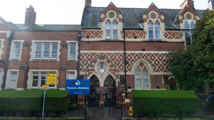 Four pupils at Thomas's Battersea School