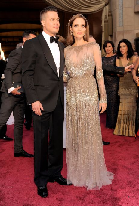 Brad Pitt and Angelina Jolie arrive at the Oscars, at the Dolby Theatre in Los Angeles86th Academy Awards - Arrivals, Los Angeles, USA
