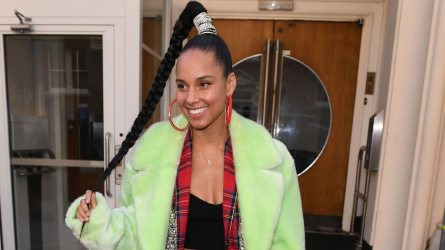 Alicia Keys out and about, London,