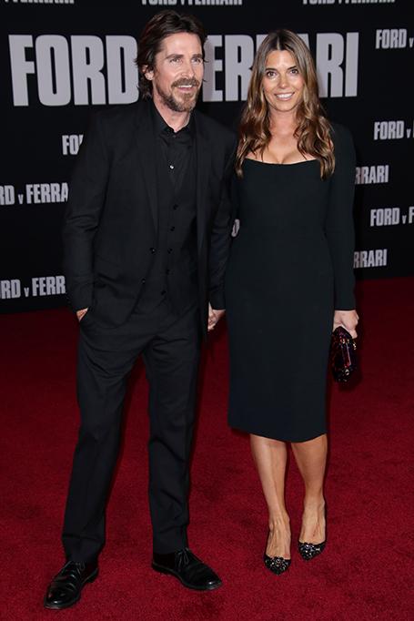 'Ford v Ferrari' film premiere, Arrivals, TCL Chinese Theatre, Los Angeles, USA - 04 Nov 2019 Christian Bale and wife Sibi Blazic