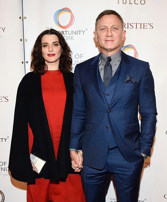 Rachel Weisz, Daniel Craig. Actors Daniel Craig and Rachel Weisz attend The Opportunity Network's 11th Annual Night of Opportunity Gala at Cipriani Wall Street, in New York