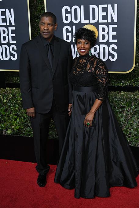 Denzel Washington and Pauletta Washington 75th Annual Golden Globe Awards, Arrivals, Los Angeles, USA - 07 Jan 2018 PAULETTA WEARING LAURA BASCI DENZEL WEARING BRIONI