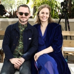 Elijah Wood and Mette-Marie Kongsved in the front rowRodarte show, Front Row, Fall Winter 2019, The Huntington Library, Los Angeles, USA - 05 Feb 2019