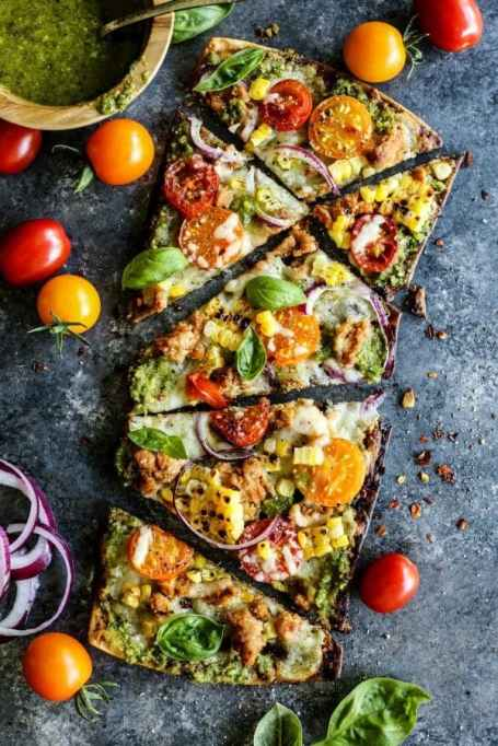 Farmer's Market grilled flatbread pizza