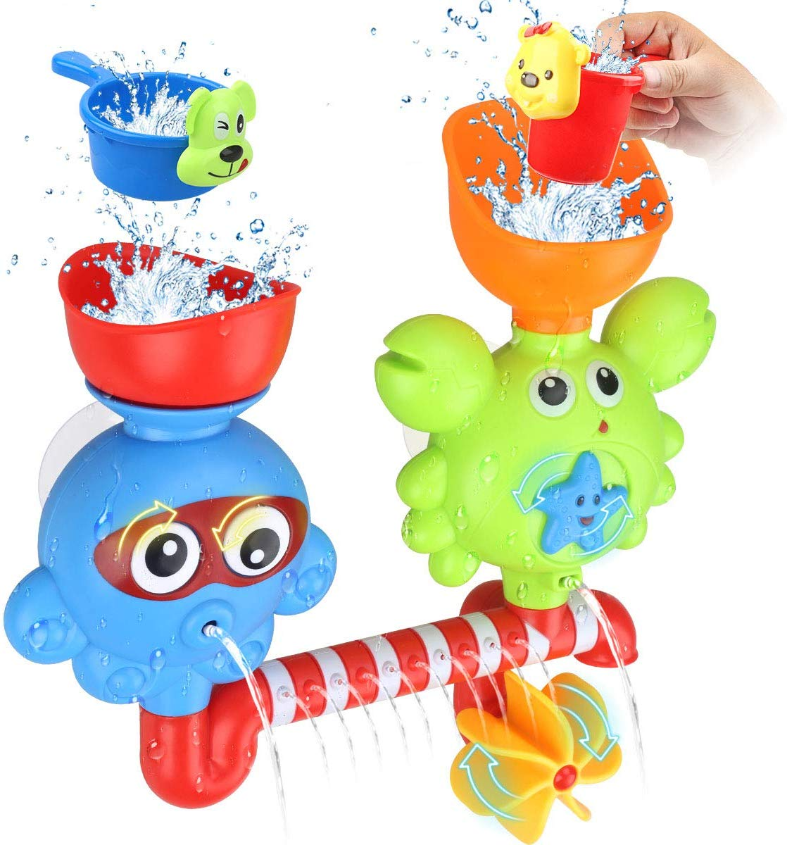 GOODLOGO Spin and Flow Waterfall Bath Toy
