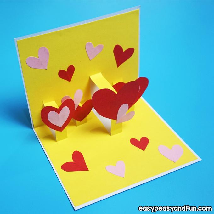 Kids Valentine's Day Cards pop-up cards