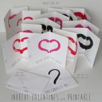DIY Kids Valentine's Day Cards inkblot
