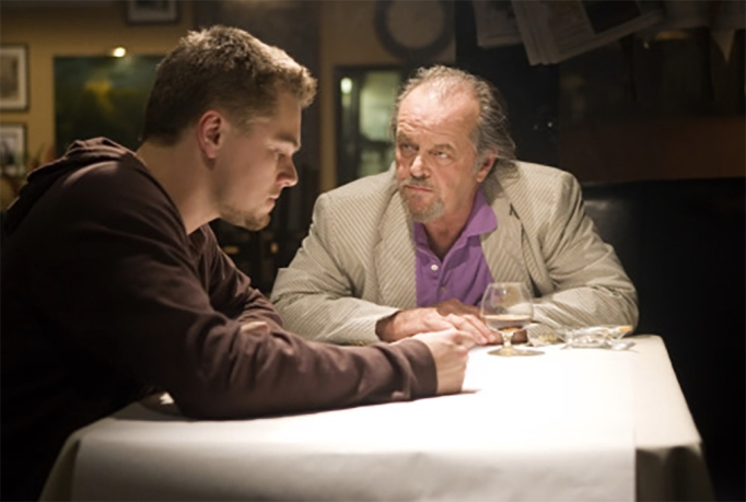Leonardo DiCaprio and Jack Nicholson in The Departed (2006)