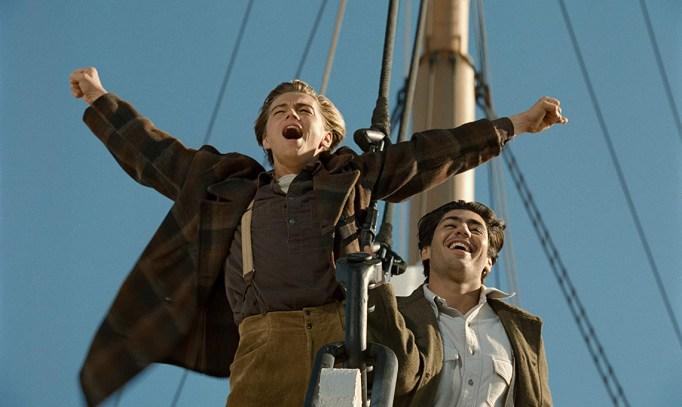 Leonardo DiCaprio and Danny Nucci in Titanic, 1997
