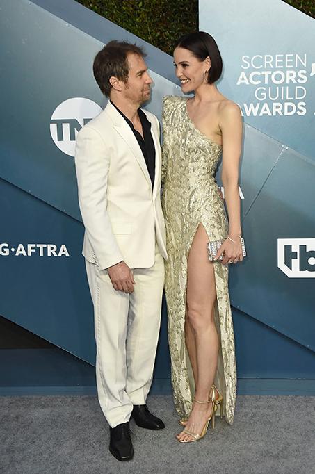 26th Annual Screen Actors Guild Awards, Arrivals, Shrine Auditorium, Los Angeles, USA - 19 Jan 2020 Sam Rockwell and Leslie Bibb