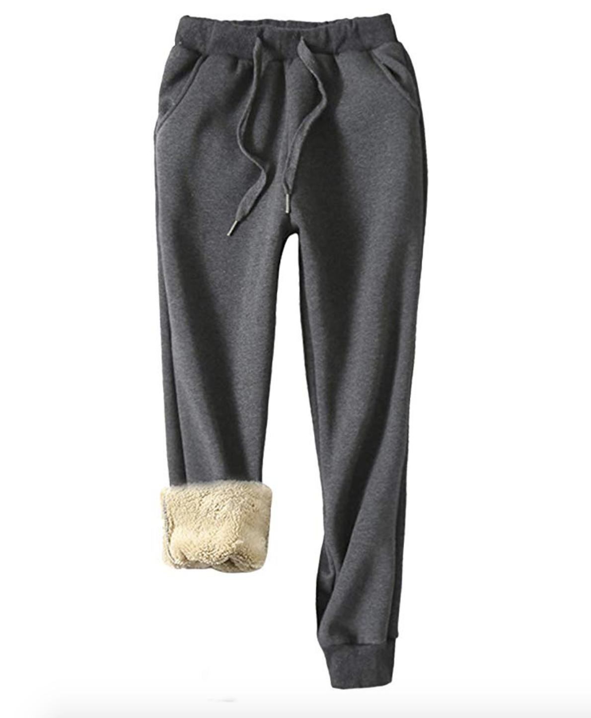 Yeokou Women's Warm Sherpa Lined Athletic Sweatpants Jogger Fleece Pants