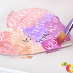 Kids Valentine's Day Cards crayons and watercolor