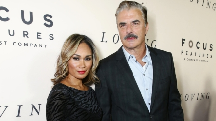 Tara Wilson and Chris Noth seen