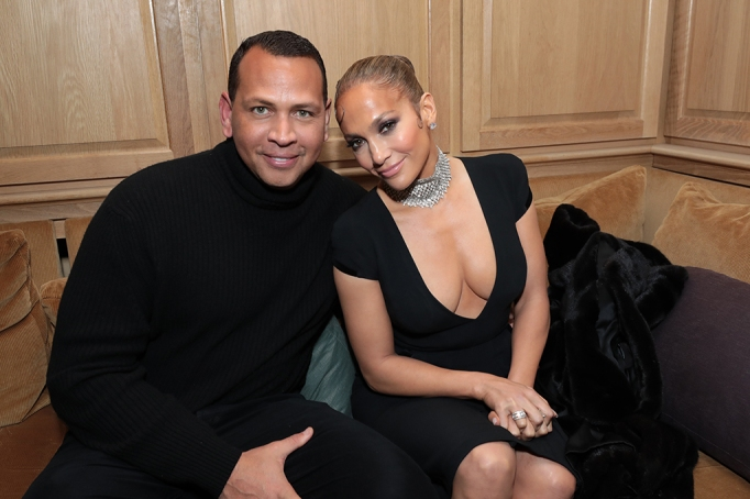 Alex Rodriguez and Jennifer Lopez attend the CAA Pre-Oscar Party, at San Vicente Bungalows in West Hollywood on February 7, 2020.(photo: Alex J. Berliner/ABImages)