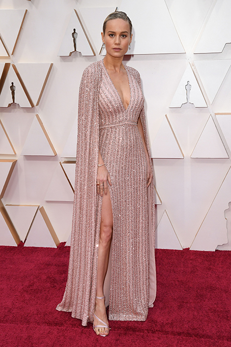 Brie Larson, 92nd Annual Academy Awards, Arrivals, Fashion Highlights, Los Angeles, USA - 09 Feb 2020Wearing Celine, Custom