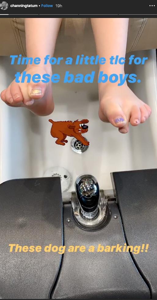 Channing Tatum Instagram Story daughter Everly