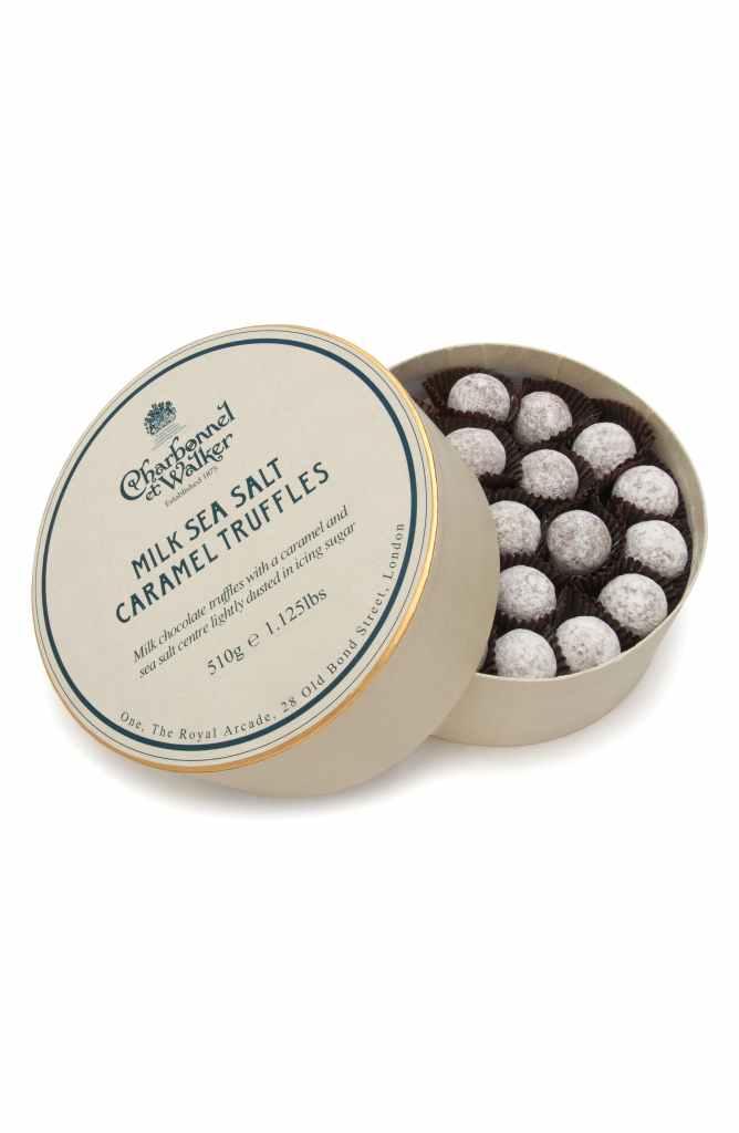 Charbonnel et Walker Sea Salt Caramel Milk Chocolate Truffles in Double Layer Gift Box