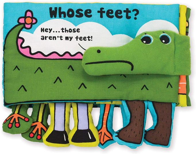 Best Baby Toys First Year Melissa & Doug Whose Feet? crinkle cloth book