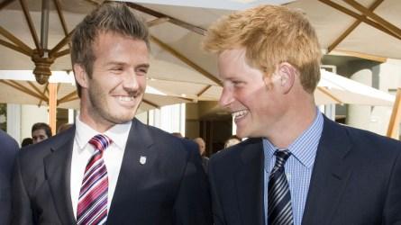 David Beckham Gushes Over Pal Prince