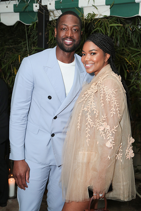 Dwayne Wade and Gabrielle Union attend the CAA Pre-Oscar Party, at San Vicente Bungalows in West Hollywood on February 7, 2020.(photo: Benjamin Shmikler/ABImages)