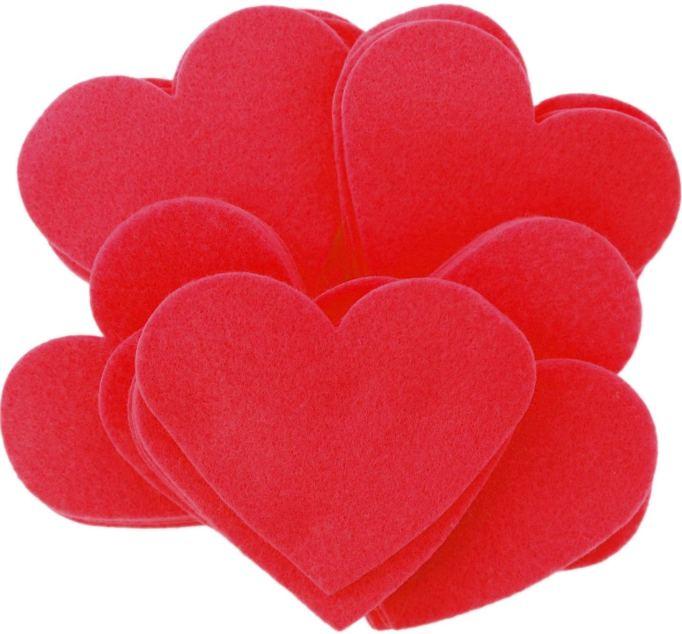 DIY Kids Valentine's Day Cards felt hearts