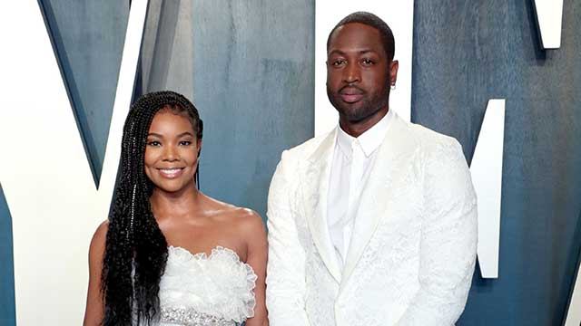 Gabrielle Union and Dwyane Wade proud