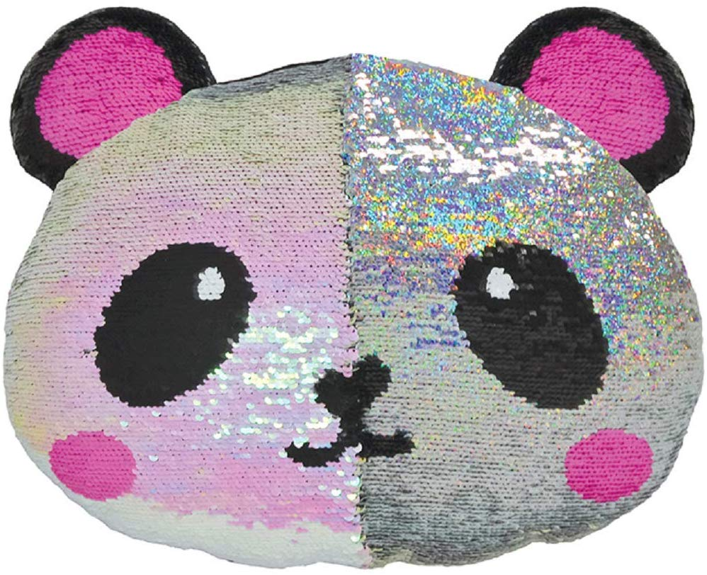 Coussin réversible à paillettes Pretty Panda iscream