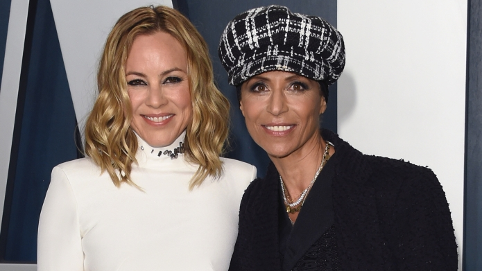 Vanity Fair Oscar Party, Arrivals, Los Angeles, USA - 09 Feb 2020 Maria Bello and fiance Dominique Crenn