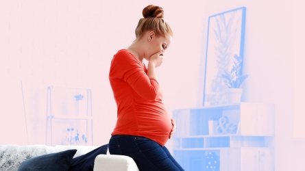 Morning sickness pregnant mom