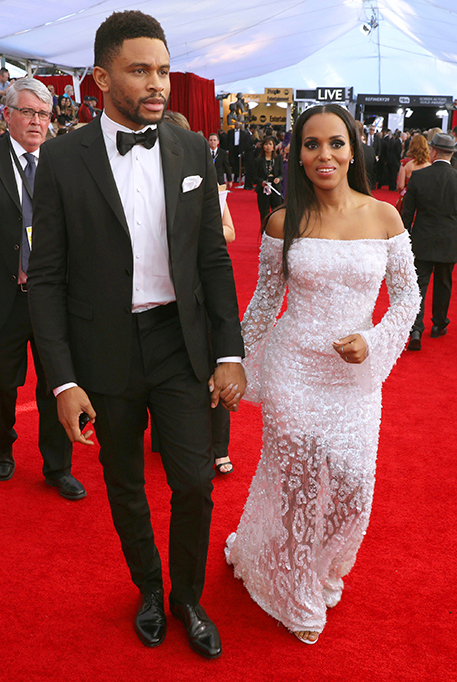 Nnamdi Asomugha, left, and Kerry Washington arrive at the 23rd annual Screen Actors Guild Awards at the Shrine Auditorium & Expo Hall, in Los AngelesAPTOPIX The 23rd Annual SAG Awards - Red Carpet, Los Angeles, USA - 29 Jan 2017