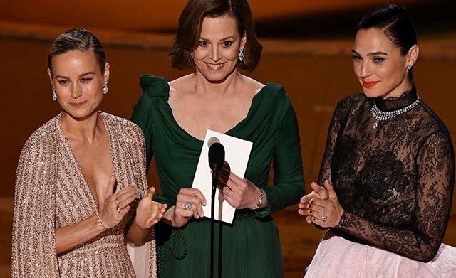 Oscars 2020 Brie Larson Sigourney Weaver