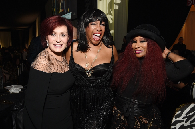 Sharon Osbourne, Mary Wilson and Chaka Khan attend the 28th Annual Elton John AIDS Foundation Academy Awards Viewing Party.