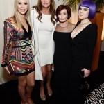 Sophia Hutchins, Caitlyn Jenner, Sharon Osbourne, and Kelly Osbourne attend the 28th Annual Elton John AIDS Foundation Academy Awards.