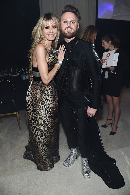 Heidi Klum and Bobby Berk attend the 28th Annual Elton John AIDS Foundation Academy Awards Viewing Party.
