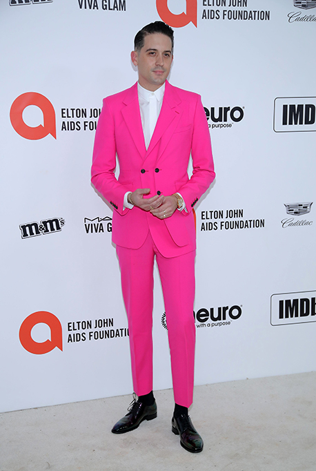 G-Eazy attends the 28th Annual Elton John AIDS Foundation Academy Awards Viewing Party.
