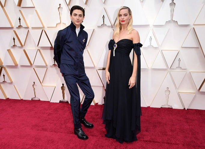 Timothee Chalamet and Margot Robbie 92nd Annual Academy Awards