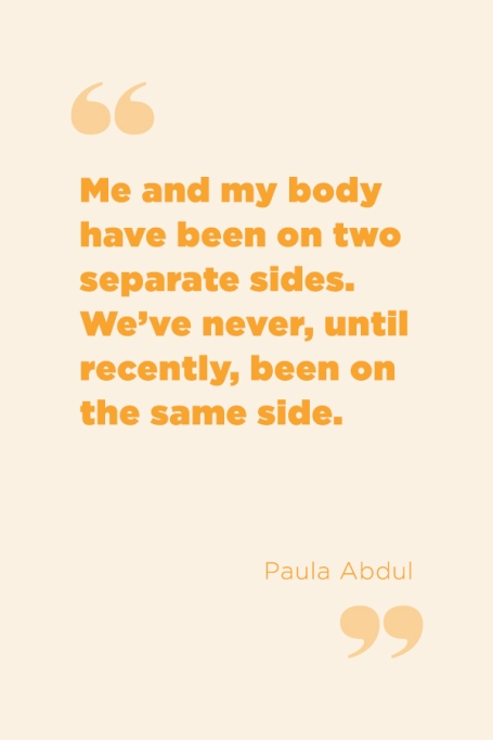 Inspiring Food Attitude Quotes | You and your body are on the same side.